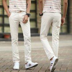 Tanah Laki Laki Slim Lurus Celana Panjang Musim Gugur Celana Kasual Nasi Putih Celana Pria Celana Panjang Pria Celana Chino Celana Cargo Murah