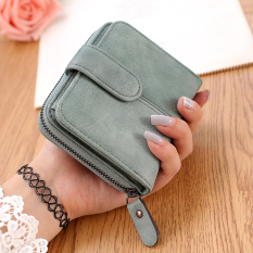 Jual Tango Korea Fashion Style Perempuan Retro Ritsleting Pengait Dompet Wanita Wallet Hijau Tangle Tango Original
