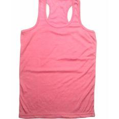 Tanktop - Singlet - Camisol Model Tali Silang Agnes Ukuran Jumbo (Pink)