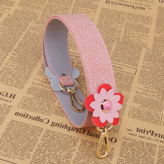 Tas Wanita Tali Pundak Tas Ransel Tas All-match Tali (Dihiasi Bunga (Tiga Dimensi Motif Kulit Ular Merah Muda))