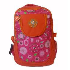Tas Alto Original / Ransel Backpack Orange Pink Motif Bunga