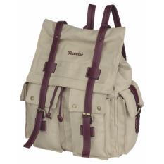 Tas Backpack Ransel Canvas Wanita Raindoz RRH 017 Cream Kanvas