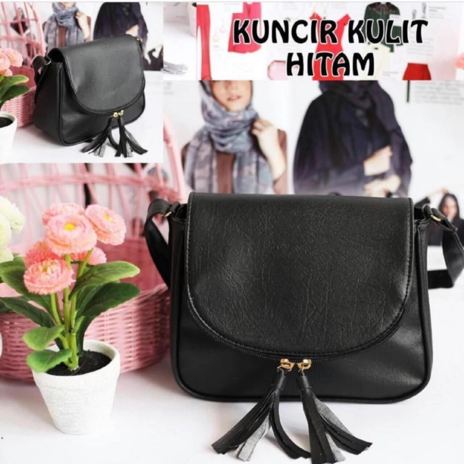 Ukuran 15x18x21 Tas Bahu Wanita Tote Bags Shoulder Sling Bag Selempang Handbag - Hitam