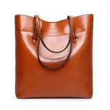 Promo Tas Baju Kulit Tote Vintage Tas Besar Besar Versi Upgrade Kapasitas Brown Tiongkok