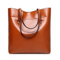 Review Tas Baju Kulit Tote Vintage Tas Besar Besar Versi Upgrade Kapasitas Brown Pathfinder