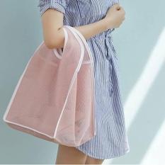 Tas Belanja Jaring Warna Tas Pantai / Shopping Bag Bisa Dilipat FTS070