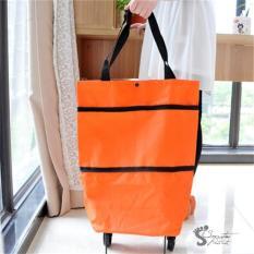 Beli Tas Belanja Troli Foldable Shopping Bag Wanita Terbaru Murah Orang Tab 003 Murah Di Indonesia
