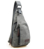 Jual Tas Bodypack Bag Selempang Pria Bahan Jeans Grey Branded Original