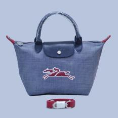 Promo Toko Tas Branded Longchamp Le Pliage On The Road Small Size Grey Red