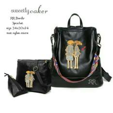 Jual Tas Branded Ransel Wanita Korean Style High Quality 3In1 Shoppies Di Indonesia