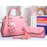 Jual Tas Branded Wanita Korean High Style With Wallet Eksklusif Pink Branded Original