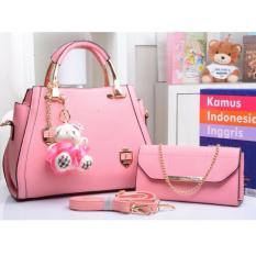 Toko Tas Branded Wanita Korean High Style With Wallet Eksklusif Pink Murah Riau Islands