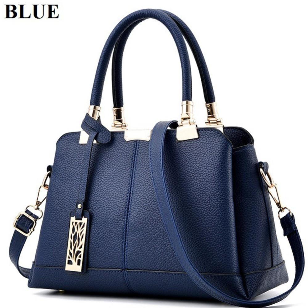 Tas Branded Wanita Kulit Import Fashion High Quality PU Leather Korean Elegant Bag .