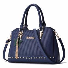 Jual Tas Branded Wanita Sling Bags Pu Leather Blue 84912 Tas Branded Wanita Di Indonesia