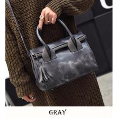 Review Tas Branded Wanita Sling Bags Pu Leather Gray 1493 Tas Branded Wanita