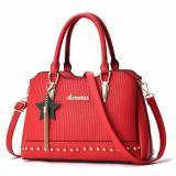 Beli Tas Branded Wanita Sling Bags Pu Leather Red 84912 Yang Bagus