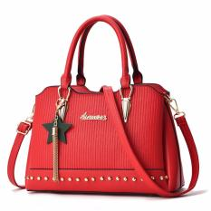 Harga Tas Branded Wanita Sling Bags Pu Leather Red 84912 Origin