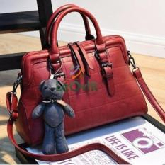 Diskon Tas Branded Wanita Top Handle Bags Pu Leather Red 86516 Akhir Tahun