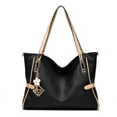 Beli Tas Branded Wanita Top Handle Bags Pu Leather Black 83923 Kredit Indonesia