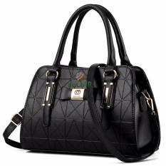 Harga Tas Branded Wanita Top Handle Bags Pu Leather Black 88951 Terbaru
