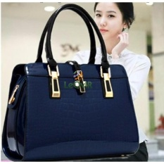 Harga Termurah Tas Branded Wanita Top Handle Bags Pu Leather Blue 03560
