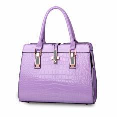Jual Tas Branded Wanita Top Handle Bags Pu Leather Purple 03560 Branded Original