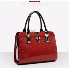 Harga Tas Branded Wanita Top Handle Bags Pu Leather Red 03560 Merk Tas Branded Wanita