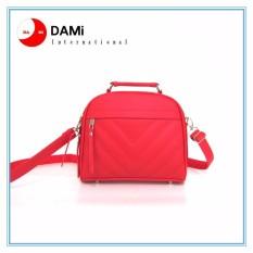 Tas Branded Wanita With Pompom - High Quality PU Leather Korean Elegant Bag Style