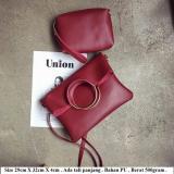 Spesifikasi Mirabile Tas Selempang Wanita 2In1 Slingbag Murah Clutch Cantik Merah
