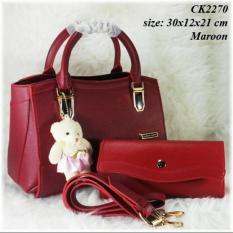 Tas CK 2270 Set Dompet Tas Wanita Branded Murah Handbag Wanita Cantik