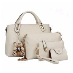 Tas Dolly With Bear 4 In 1 Beige Tas Fashion Diskon 40