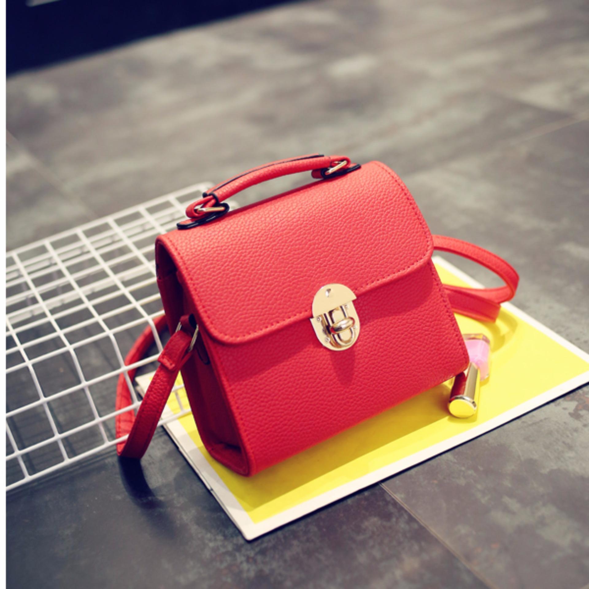 Vona Ferris Merah Tas Shoulder Sling Clutch Bag Tassel Rumbai Jahitan Rapi Dan Kuat Fashion 2112 Import Wanita Korean Style