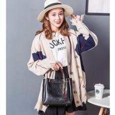 Tas Fashion 222# Import Bag Wanita Korean Style 2in1(ada Gantungan kunci)- Hitam