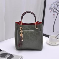 Tas Fashion 222 Import Bag Wanita Korean Style 2In1(Ada Gantungan Kunci) Green Promo Beli 1 Gratis 1