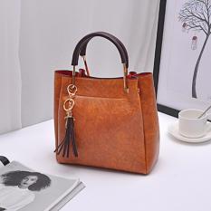 Beli Tas Fashion 222 Import Bag Wanita Korean Style 2In1(Ada Gantungan Kunci) Khaki Dami Online