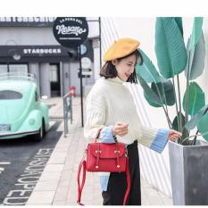 Promo Tas Fashion 2367 Import Bag Wanita Korean Style Merah Akhir Tahun