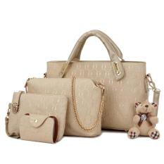 Jual Tas Fashion High Quality Korean Style 4In1 Serie 2 Gold Murah