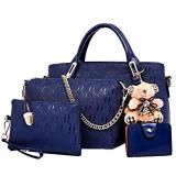 Promo Tas Fashion Import High Quality Korean Style 4In1 Biru