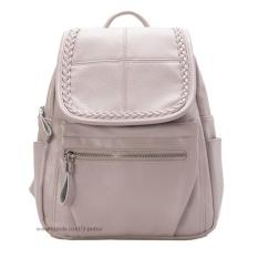 Jual Tas Fashion Import Tas Ransel Tas Punggung Backpack Travel Bag Wanita 3P Leather Bag Women Gray Tas Online