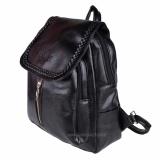Beli Tas Fashion Import Tas Ransel Tas Punggung Backpack Travel Bag Wanita 3P Ransel Kulit Black Murah Di Indonesia
