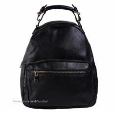 Spesifikasi Tas Fashion Import Tas Ransel Wanita Backpack Wanita Tas Santai Travel Backpack Wanita 3P 27062 Fashion Leather Backpack Black Tas Fashion Import