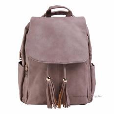 Katalog Tas Fashion Import Tas Ransel Wanita Backpack Wanita Tas Santai Travel Backpack Wanita 3P 28056 Fashion Leather Backpack Pink Terbaru