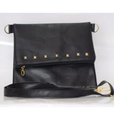 Tas Fashion Slingbag/Slingbag Wanita Stooth Folding 1-Hitam