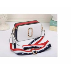 Tas Fashion Snapshot Model Marc Jacob Cream Biru Merah