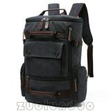 Jual Tas Gemblok Kanvas Mugu 8831 Hitam Ransel Import Backpack Tas Punggung Tas Sekolah Kuliah Kerja Laptop Pria Wanita Multi Asli