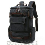 Spesifikasi Tas Gemblok Kanvas Mugu 8831 Hitam Ransel Import Backpack Tas Punggung Tas Sekolah Kuliah Kerja Laptop Pria Wanita Merk Multi