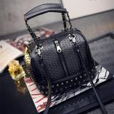 Beli Tas Hand Shoulder Bag Cantik Pesta 63313 Black Studded Nyicil