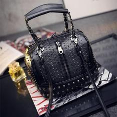 Beli Tas Hand Shoulder Bag Cantik Pesta 63313 Black Studded Triple 8 Collection Murah