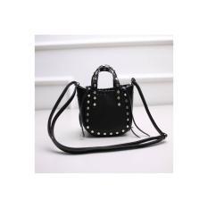 tas handbag model keranjang unik kepang hitam wanita import uniqlo cnk