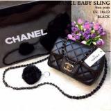 Jual Tas Import Tas Fasion Cha Nel Baby Sling Super Black Lengkap